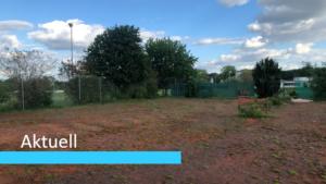 Aktuell Brachliegender Tennisplatz